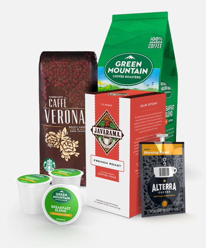 Starbucks, Green Mountain Coffee, Folgers, MARS DRINKS, Peet's Coffee & Tea, Standard Coffee� and Javarama coffee products supplier